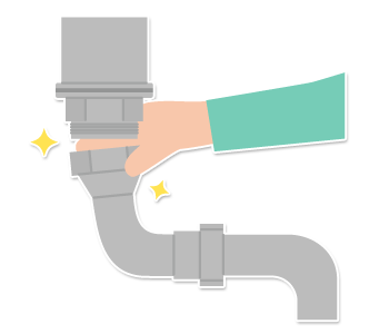 排水つまりの修理
