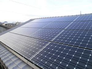 滋賀県湖南市M様邸太陽光発電施工後