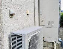 丸形の電気温水器からエコキュートへ取り替え