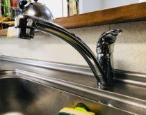 ハンドル操作が固くなり使いづらかった台所水栓を取り替え