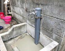 埋設部より漏水している水栓柱を取り替え