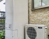 550㍑の電気温水器を550㍑のエコキュートに取り替え