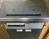 ビルトインコンロ+ビルトインオーブンを、IHクッキングヒーター+キャビネットにお取替え