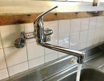 台所水栓取替え
