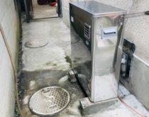 追い焚きと自動湯はりが故障した石油給湯器を取替えました。