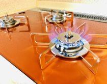長年使用されたビルトインコンロを最新のピアットワイドグリルに取り替え