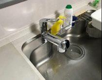水漏れしていた水栓を新しく交換しました