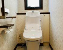 トイレの取替えと同時にクロスとクッションフロアも貼り替えました