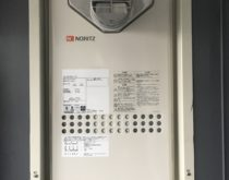 草津駅前の分譲マンションでガス給湯器を交換
