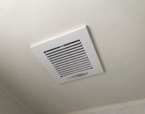 異音がしていた浴室天井換気扇を新しく取り替え