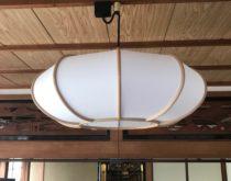 和室の照明をLED照明に取り替えさせていただきました