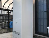 長年使用された電気温水器をエコキュートにお取替え