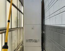 故障してお湯が作れなくなった電気温水器をエコキュートに取り替え