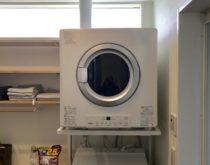 自宅兼美容室の新築に大人気のガス衣類乾燥機 乾太くん8㎏タイプを新規で取付