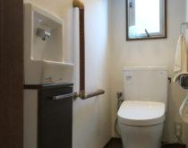 TOTOトイレ ピュアレストへ交換、分離型の手洗い器を新設しました