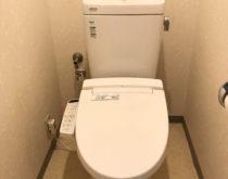 野洲駅前分譲マンションで節水型トイレに取り替え