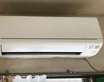 冷房専用クーラーからエアコンにお取替え