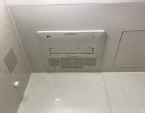 故障して換気ができなくなったガス式の浴室暖房乾燥機を交換