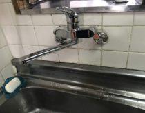 台所の水栓を操作がしやすいレバータイプに交換しました