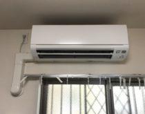 ルーバーが故障したエアコンを取替