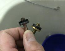 浴槽の埋込2ハンドル水栓からのポタポタ水漏れを修理しました