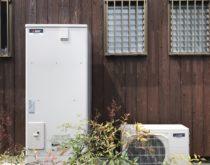 滋賀県湖南市で高温差湯タイプの電気温水器からフルオートタイプのエコキュートへの交換工事