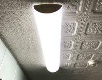 暗かったキッチンの照明を明るいLEDのキッチンベースライトに交換