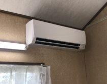 草津市内の保育園でエアコンの取替工事を行いました