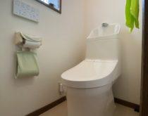 一体形の節水タイプのトイレに交換しました