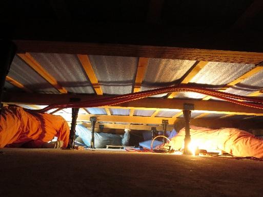 温水床暖房・床下工法