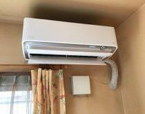 大津市にて、うるさらX(うるるとさらら)のエアコン取り付けました