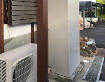 三菱電気温水器から三菱エコキュートへ、同時に玄関インターホンの交換事例