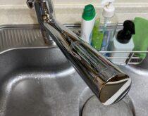 台所水栓をTOTOのシングルレバー混合水栓(TKS05308J)に交換しました