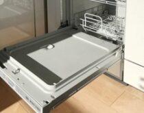 草津市にてフロントオープンタイプの食洗機、レンジフード・コンロ3点まとめて交換