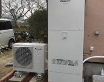 草津市でエコキュート・IHクッキングヒーター・浴室水栓をまとめて交換させて頂きました。