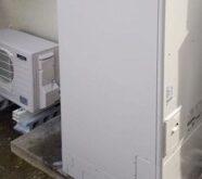 大津市にてクレーンでのエコキュート撤去、設置をしました🏗