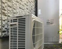 大津市にて、21年お使いの電気温水器からエコキュートへの交換です。