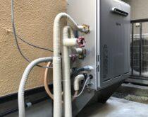 長年ご使用されたガス給湯器とビルトインコンロを新しく交換しました