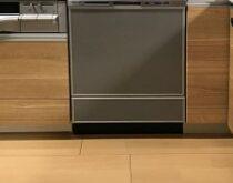 南草津、分譲マンションにて、新しくビルトイン食洗機を設置(パナソニック・ディープタイプ)