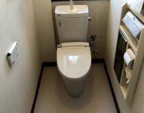 内装貼替でスッキリ、トイレを交換しました