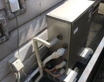 故障していた電気温水器から灯油ボイラーに交換しました