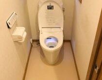 TOTO ウォシュレット(TCF6021)から、LIXIL ハイスペックウォシュレット(New PASSO)のトイレに交換