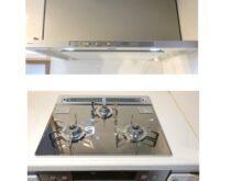 20年お使いの調理コーナーが生まれ変わりました!コンロ・レンジフード交換&ガスオーブンを収納に👍