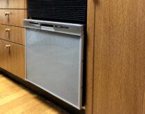 旧SANYOコンパクトサイズの食洗機からパナソニックビルトイン食器洗い乾燥機に交換