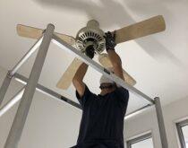 故障してしまったシーリングファンと壁掛け照明を交換しました!
