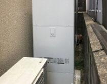 搬入が困難な場所で、電気温水器からエコキュートへの交換事例です。
