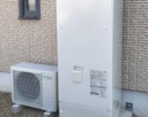 2台お使いの電気温水器。ご家族が減り1台は撤去、1台はエコキュートへと交換させて頂きました。