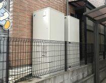 2世帯住宅のお宅で、2台の電気温水器⇒2台エコキュートへの交換