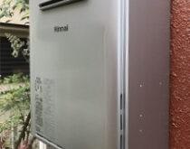 従来型給湯器⇒エコジョーズへの交換。合わせてトイレも新しく交換しました。(TOTO 一体型トイレ ZJ1シリーズ)