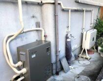 18年使用された灯油ボイラー本体から水漏れがしていたので交換しました
